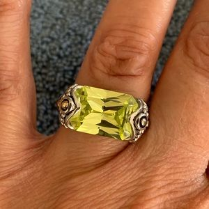 Silver Cocktail Ring Size 6